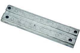 Pièces et accessoires pour Hors-bord à Hyères - Anode plate trim / relevage hydraulique