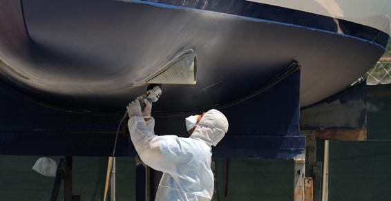 Réparation de coque bateau