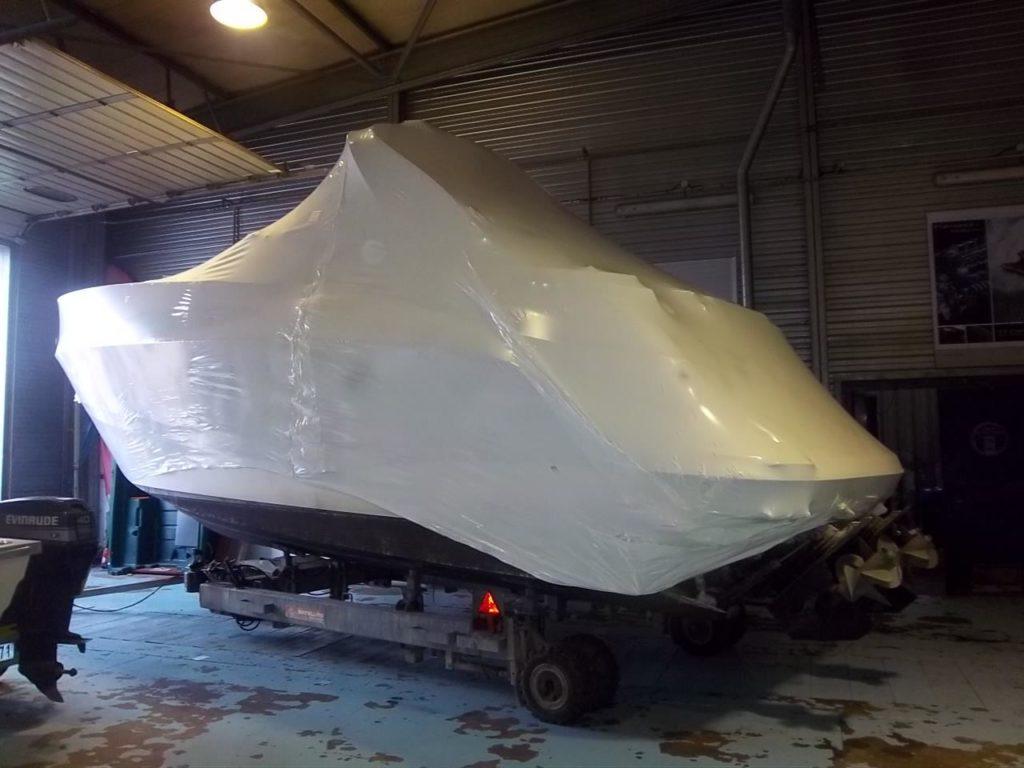 Cocon de protection hivernale pour bateau