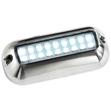 Éclairage LED sous-marin rectangulaire 10-30V blanc