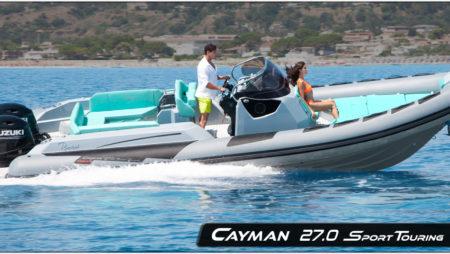 Un semi-rigide de 8,60 m typé pour la méditerranée : Le Cayman 27.0 Sport Touring