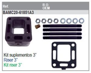 Kit de montage pour coudes collecteurs HOT20971 & HOT20978