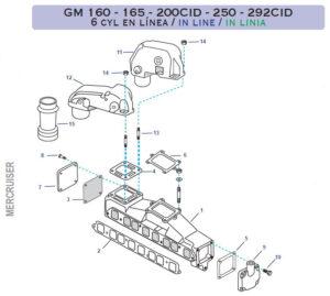 Coudes et Collecteurs Mercuiser GM L6