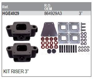 """KIT RISER 3"""" V8 MERCRUISER"""