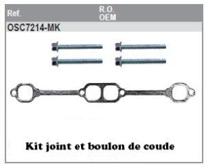 Kit joint et boulon de coude d'échappement pour mercruiser V8