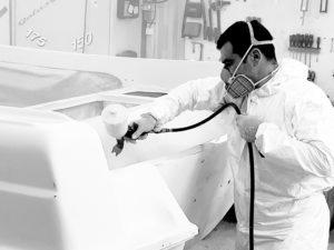 peinture de coque bateau